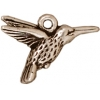 Charm Hummingbird Antique Silver